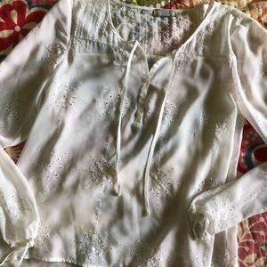 Guess sheer white blouse m